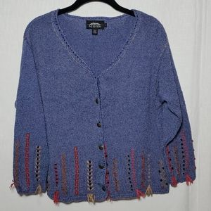 Icelandic Design Cardigan Sweater Silk Blend